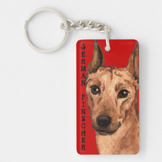 German Pinscher Color Block Keychain