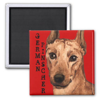 German Pinscher Color Block Magnet