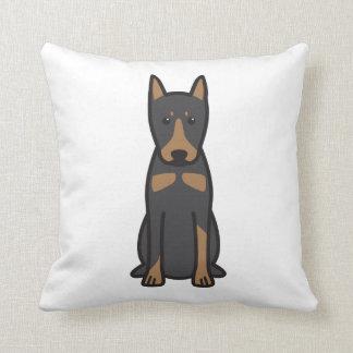 German Pinscher Dog Cartoon Pillows