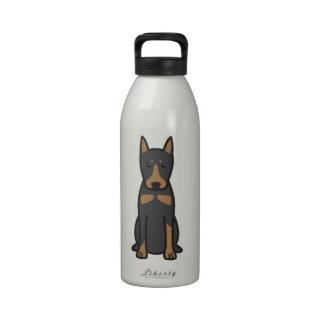 German Pinscher Dog Cartoon Drinking Bottles