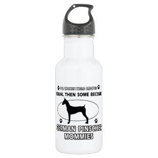 German pinscher dog designs 18oz water bottle