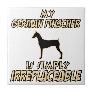 German Pinscher DOG designs Tile
