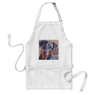 german pinscher fine art dog painting adult apron