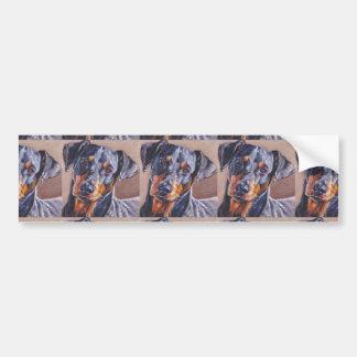 german pinscher fine art dog painting bumper sticker