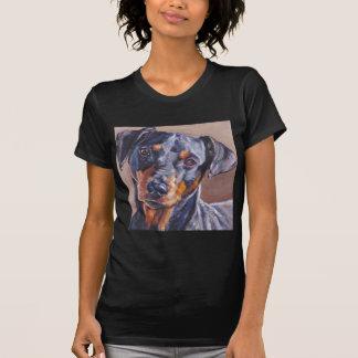 german pinscher fine art dog painting shirt