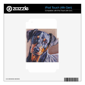 german pinscher fine art dog painting skins for iPod touch 4G