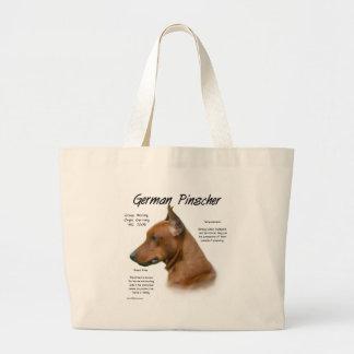 German Pinscher History Design Jumbo Tote Bag