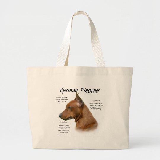 German Pinscher History Design Large Tote Bag