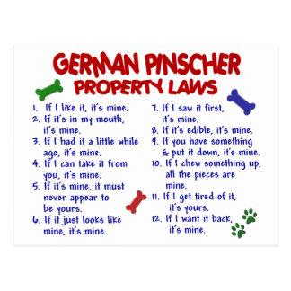 GERMAN PINSCHER Property Laws 2 Post Card