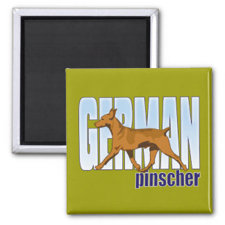 German Pinscher, red, moving Refrigerator Magnets