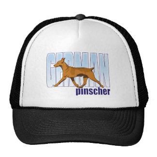 German Pinscher, red, moving Trucker Hat