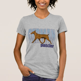 German Pinscher, red, moving T-shirts