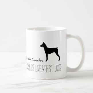 German Pinscher Silhouette with Custom Text Classic White Coffee Mug