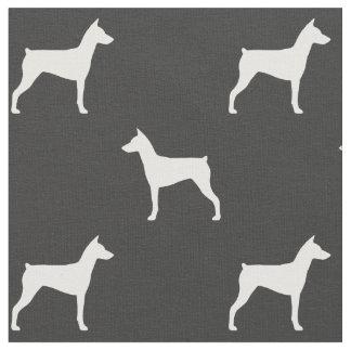 German Pinscher Silhouettes Pattern Fabric