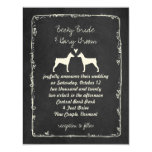 German Pinscher Silhouettes Wedding Save the Date Card