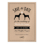 German Pinscher Silhouettes Wedding Save the Date Magnetic Card