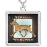 German Pinscher sterling silver necklace