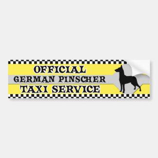 German Pinscher Taxi Service Bumper Sticker Car Bumper Sticker