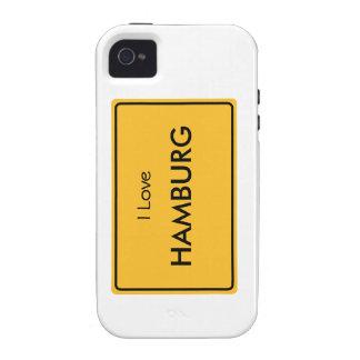German place name sign - I Love Hamburg Vibe iPhone 4 Cover