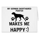 German Pointer dog designs Card