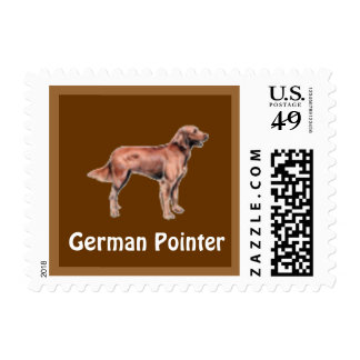 German Pointer Dog Postage Stamp for letters