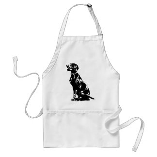 German Pointer Silhouette Adult Apron