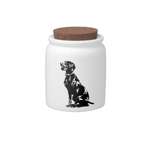 German Pointer Silhouette Candy Jars
