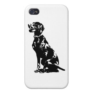 German Pointer Silhouette Case For iPhone 4