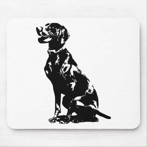 German Pointer Silhouette Mousepads