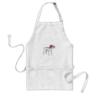 GERMAN POINTER WITH MALLARD ADULT APRON