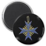German Pour Le Merit 2 Inch Round Magnet