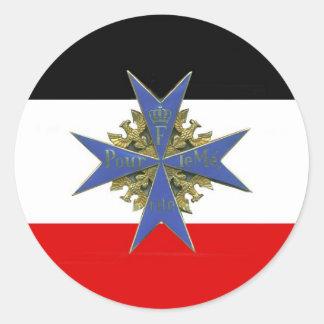 German Pour Le Merit Medal Pegatina Redonda