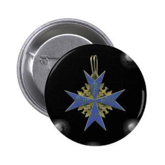 German Pour Le Merit Pin Redondo De 2 Pulgadas