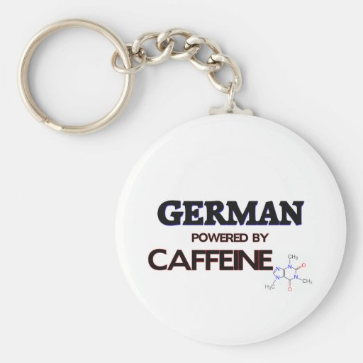 German powered by caffeine key chain