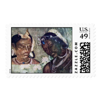 German Princess And Servant More By Indischer Male Postage Stamps