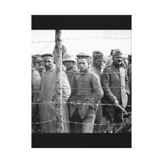 German prisoners in a French prison camp_War Image Canvas Print