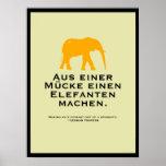 German Proverb Poster