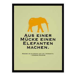 German Proverb Poster