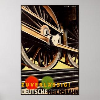 German Reichsbah vintage travel poster