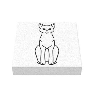 German Rex Cat Cartoon Canvas Print