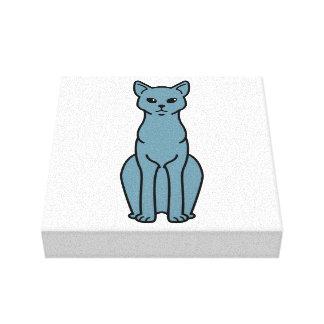 German Rex Cat Cartoon Canvas Prints