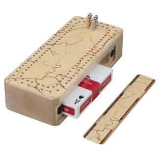 German Rivers 2 Maple Cribbage Board