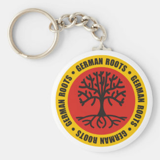 German Roots Basic Round Button Keychain