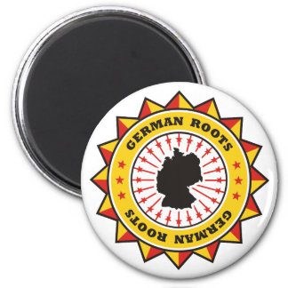 German Roots Map 2 Inch Round Magnet