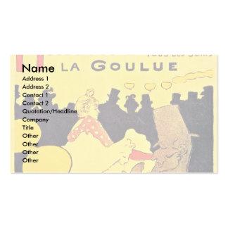 German Rouge La Goulue Business Cards