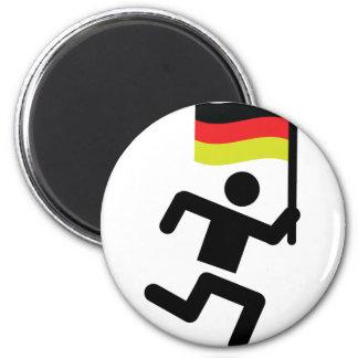 german runner icon magnet