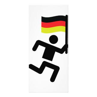 german runner sign full color rack card