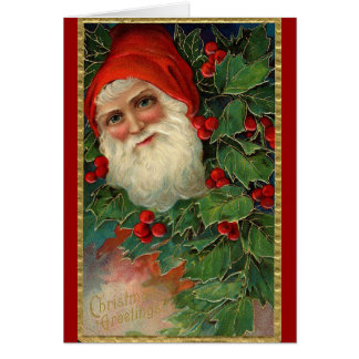 German Santa Christmas Card