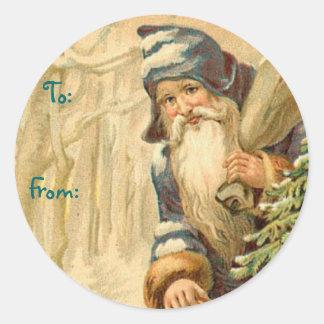 German Santa Christmas Name Tags