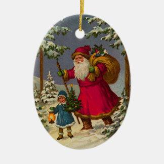 German Santa Christmas Ornaments